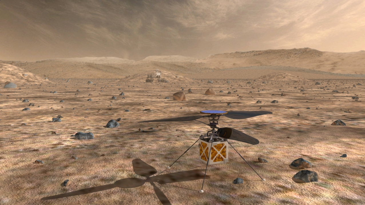 A Look at How Mini Helicopters Could Help NASA's Future Rovers