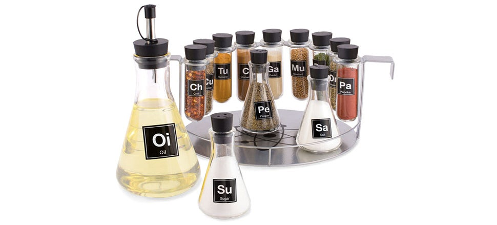 A Chemistry Set Spice Rack Puts Science in the Spotlight At Supper Time