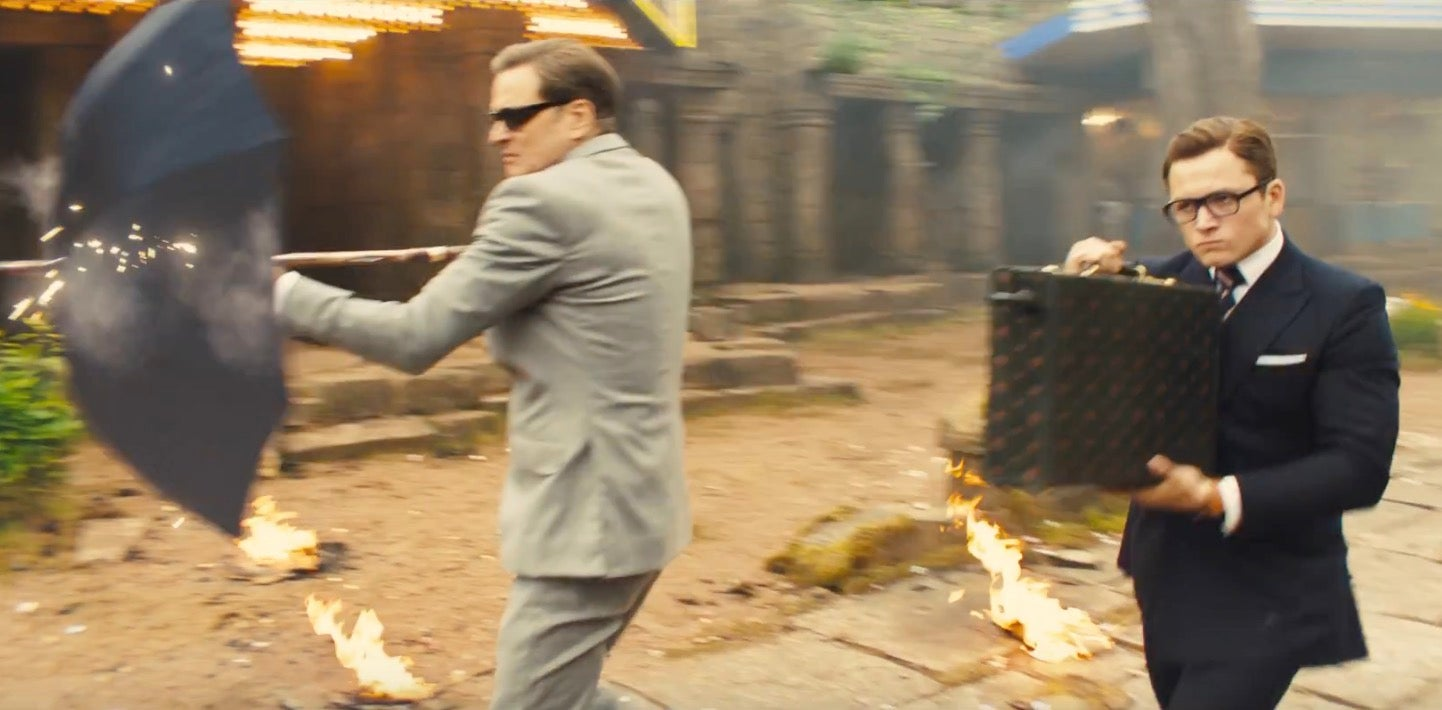 Image result for kingsman the golden circle eggsy and charlie fighting