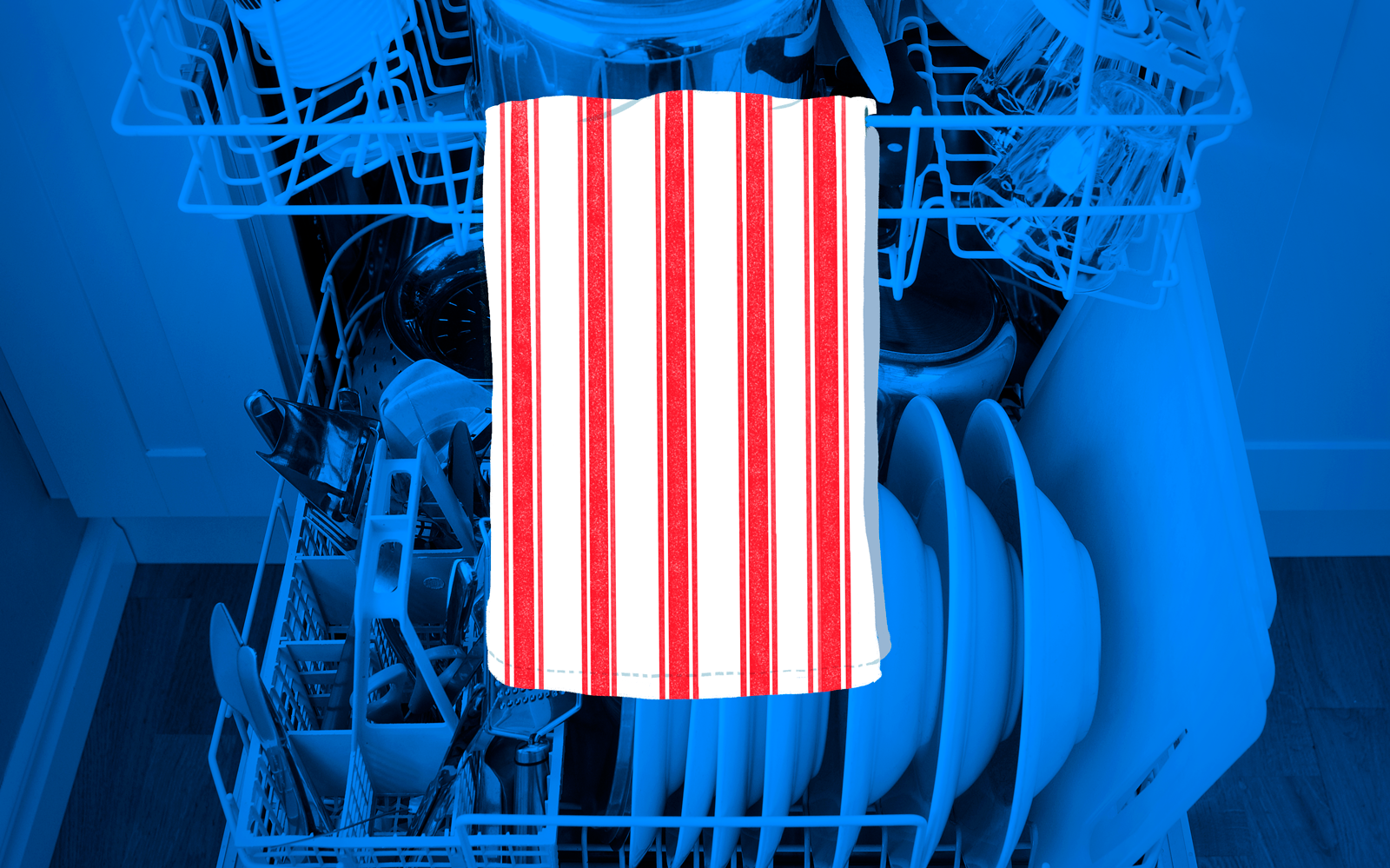 Hang A Dish Towel Inside The Dishwasher To Show The Dishes Are Clean