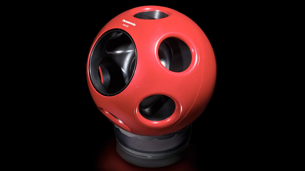 An Oddly Shaped Spherical Fan Blows More Air Than It Sucks