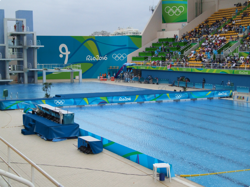 The new branding for rio 2016 looks like a very friendly - Piscina olimpiadi ...