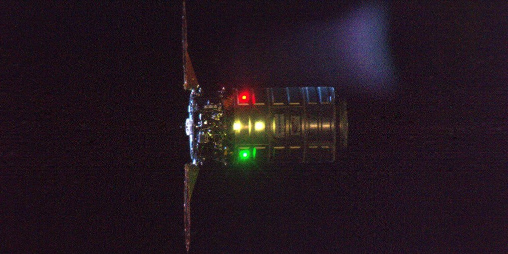 Cygnus Looked Suitably Festive For the Astronauts Aboard the ISS