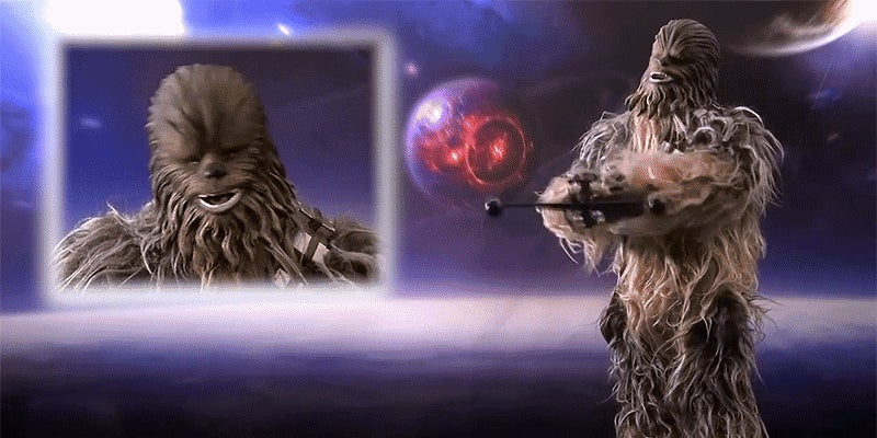 Just Look at the Luscious Fur Coat On This Animated Wookiee Figure