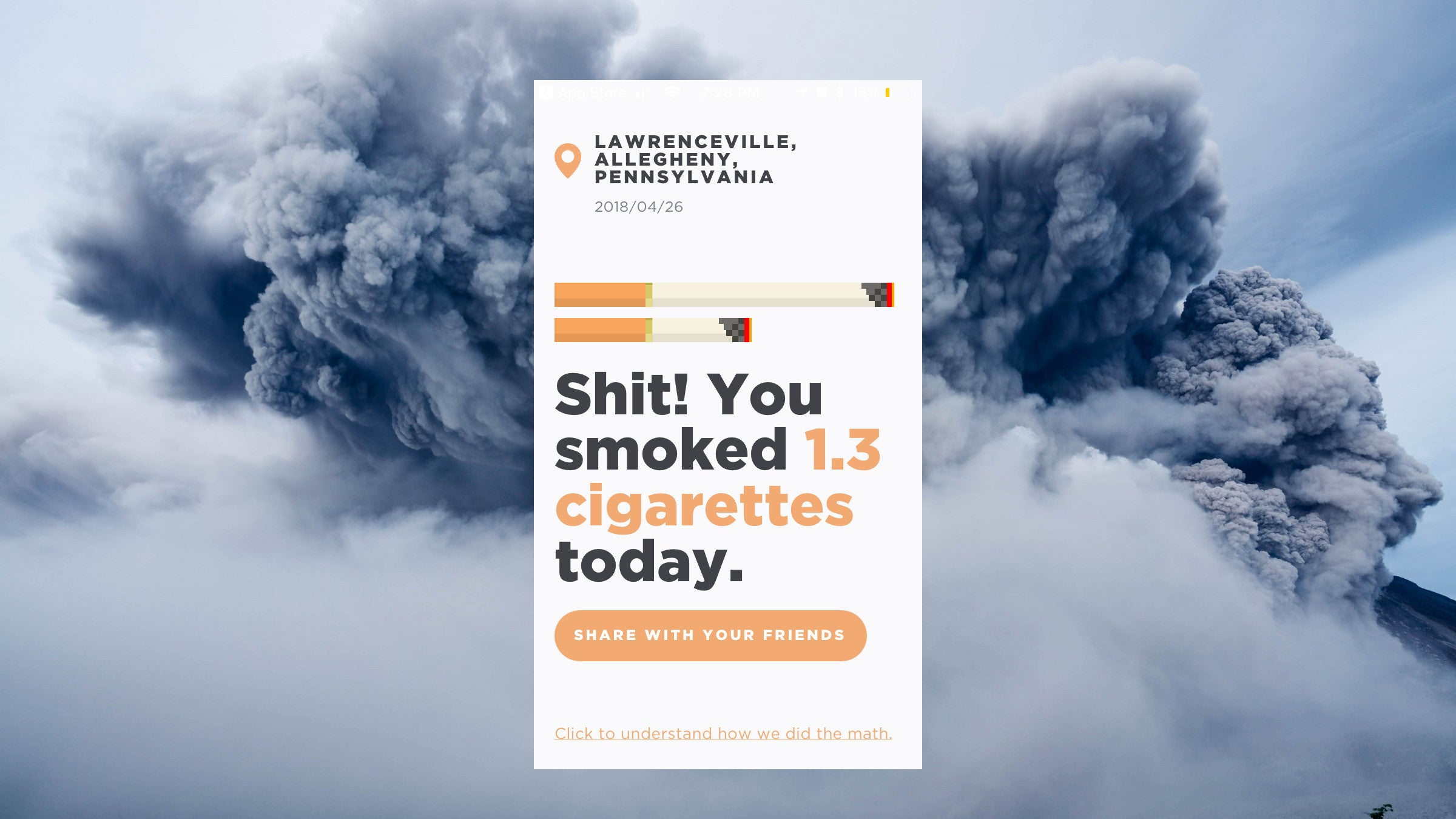See Your City's Air Pollution Measured In Daily Cigarettes