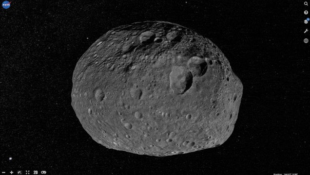 Now You Can Fly Around Asteroid Vesta and Explore Every Crevice
