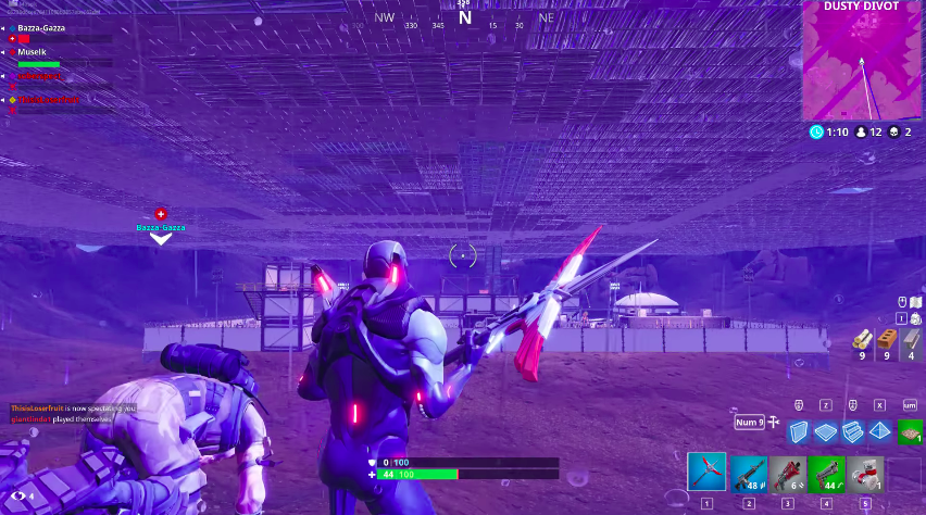 Despite Haters, Fortnite Players Fill Enormous Dusty Divot Crater