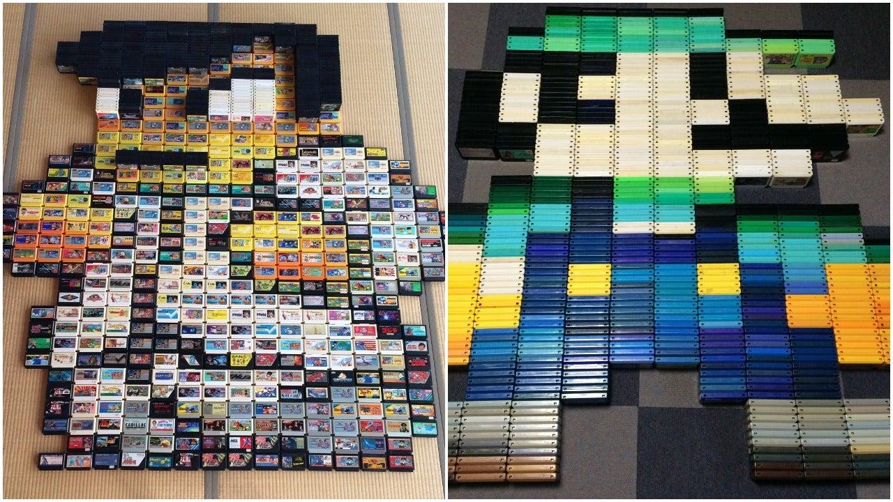 Retro Japanese Game Cartridges Make For Excellent Art