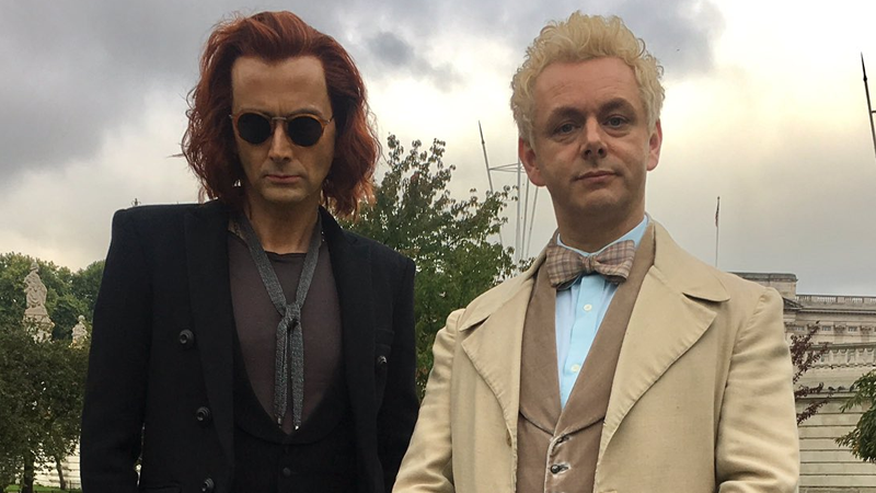 Our First Look At David Tennant And Michael Sheen In Good Omens