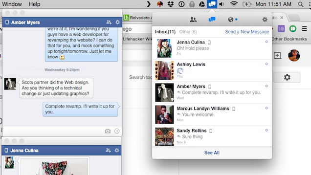 Current Seamlessly Integrates Facebook With Your Mac Desktop