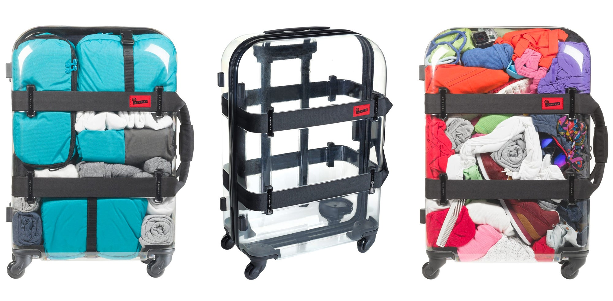 Travelling With A See-Through Suitcase Will Force You To Pack Neatly