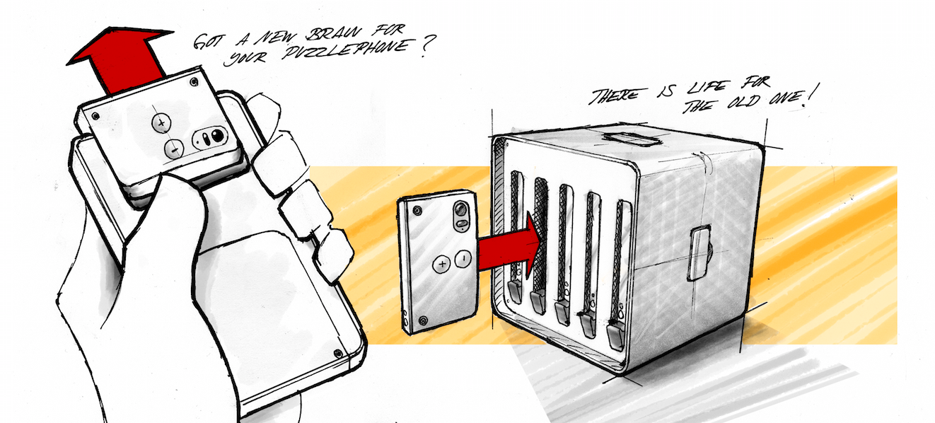 This Concept Has A Use For Old Modular Phone Parts: A Supercomputer
