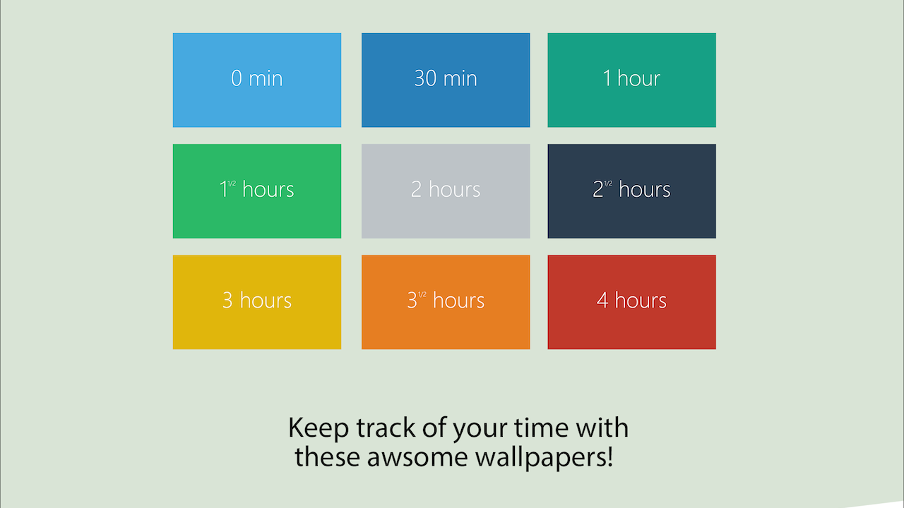 These Productivity Wallpapers Change Colour As the Day Drags On