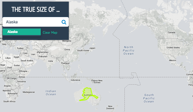 The True Size Shows You How Big Countries And States Really Are