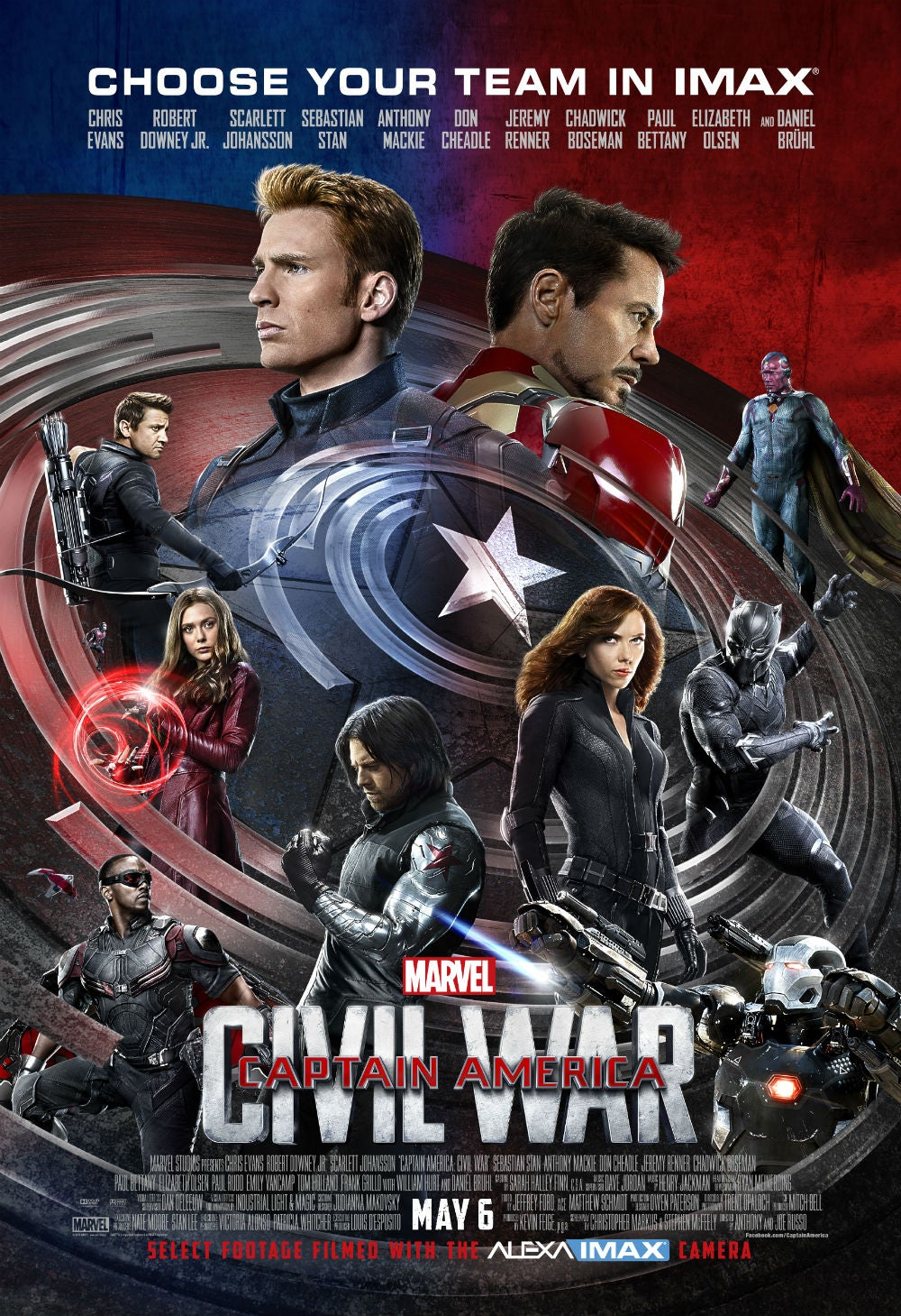 Choose a Side With This Exclusive Captain America: Civil War IMAX Poster