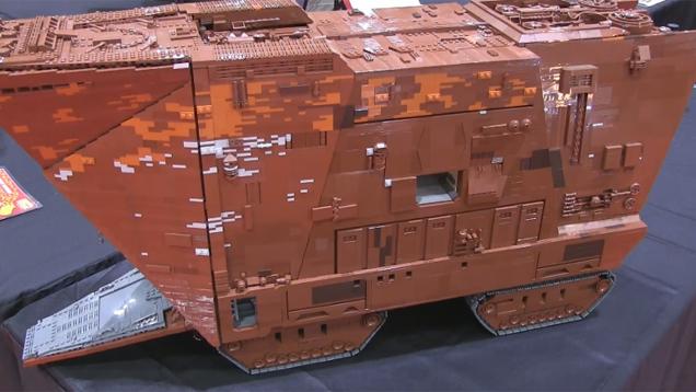 Custom LEGO Star Wars Sandcrawler Gets The Size Right