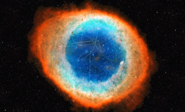 This beautiful galaxy is actually a stunning visualisation of Wikipedia