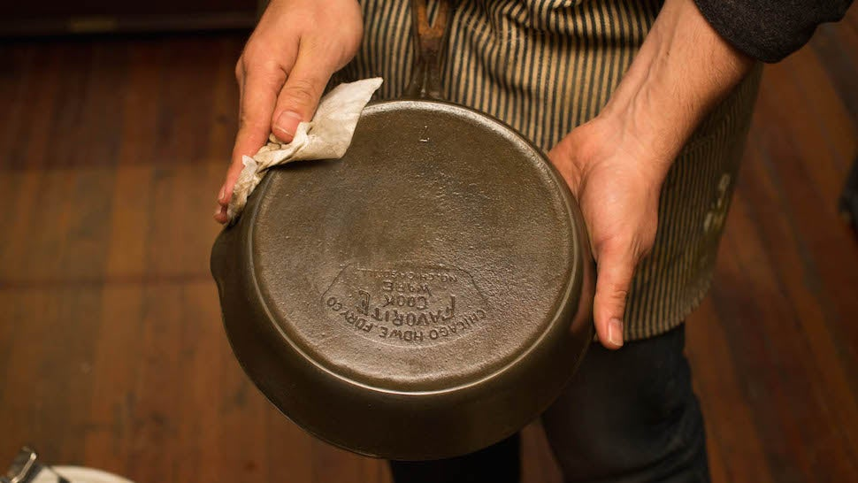 Restore Vintage Cast Iron with Oven Cleaner