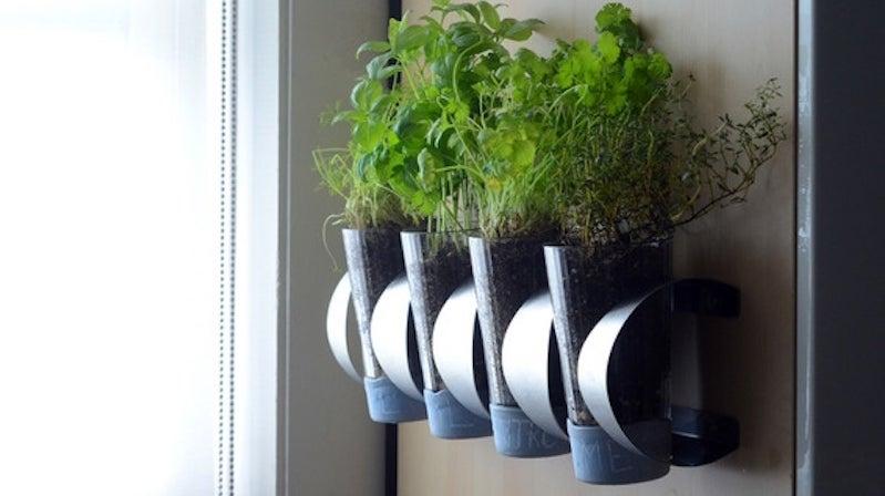Turn an IKEA Wine Rack Into a Wall-Mounted Herb Garden