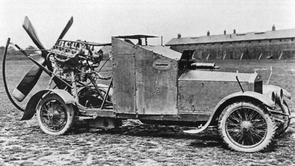This Ridiculous WWI Armoured Car Had A Propeller To Use In The Desert