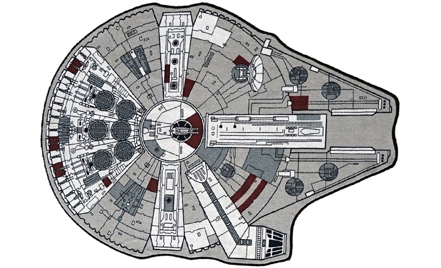 No Room Is Truly Decorated Without a Millennium Falcon Rug