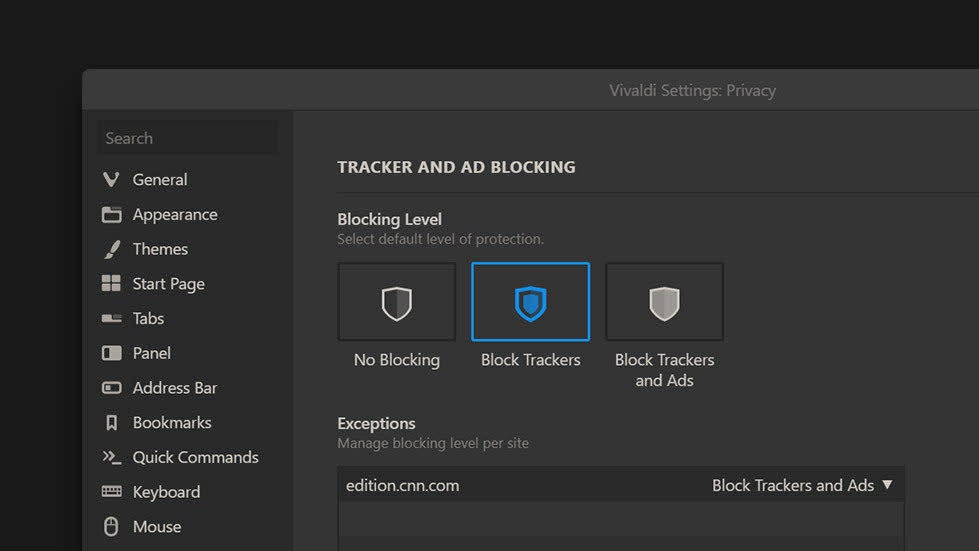 Block Ads And Tracking With Vivaldi's New Built-In Browser Settings