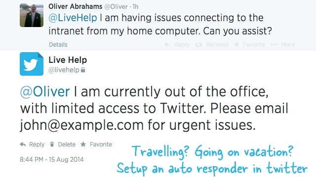 Set Up Custom, Automated Out-of-Office Replies for Your Twitter