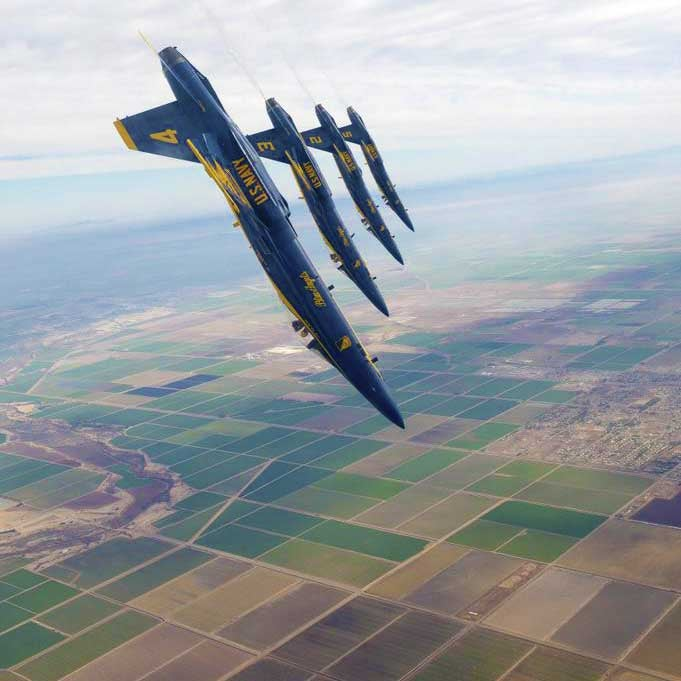 Just the Blue Angels doing their awesomeness