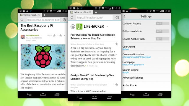 Now Browser Is a Lightweight Browser for Android with Flash Support