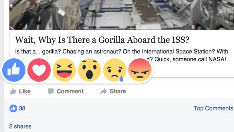 Facebook's New Reaction Buttons Go Live Today