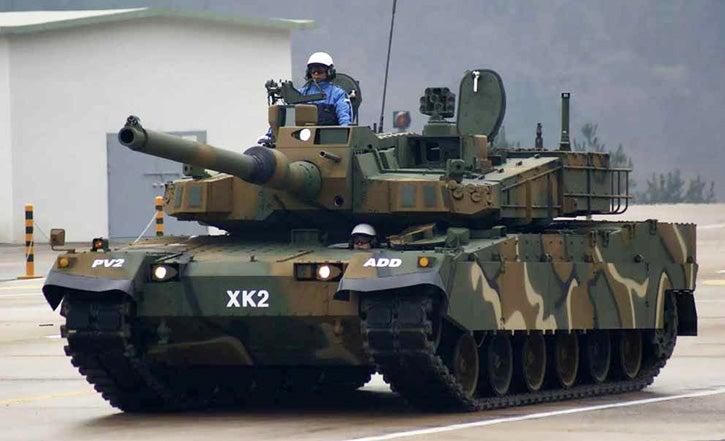 Korea's Black Panther Battle Tank Shoots Parachute Bombs