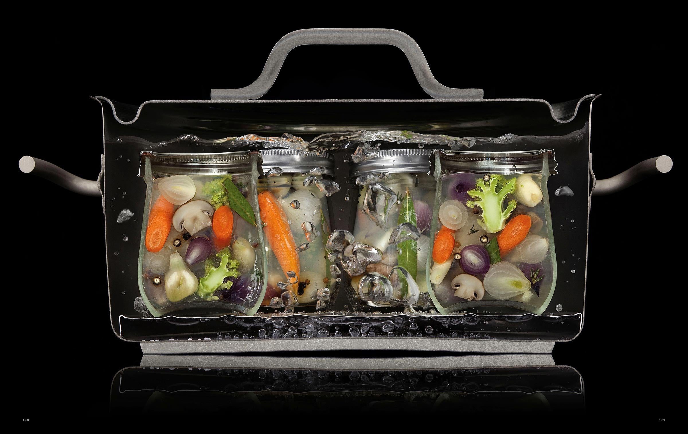 Cool pictures of food cut in half while it is cooking for Modernist cuisine ou on food and cooking
