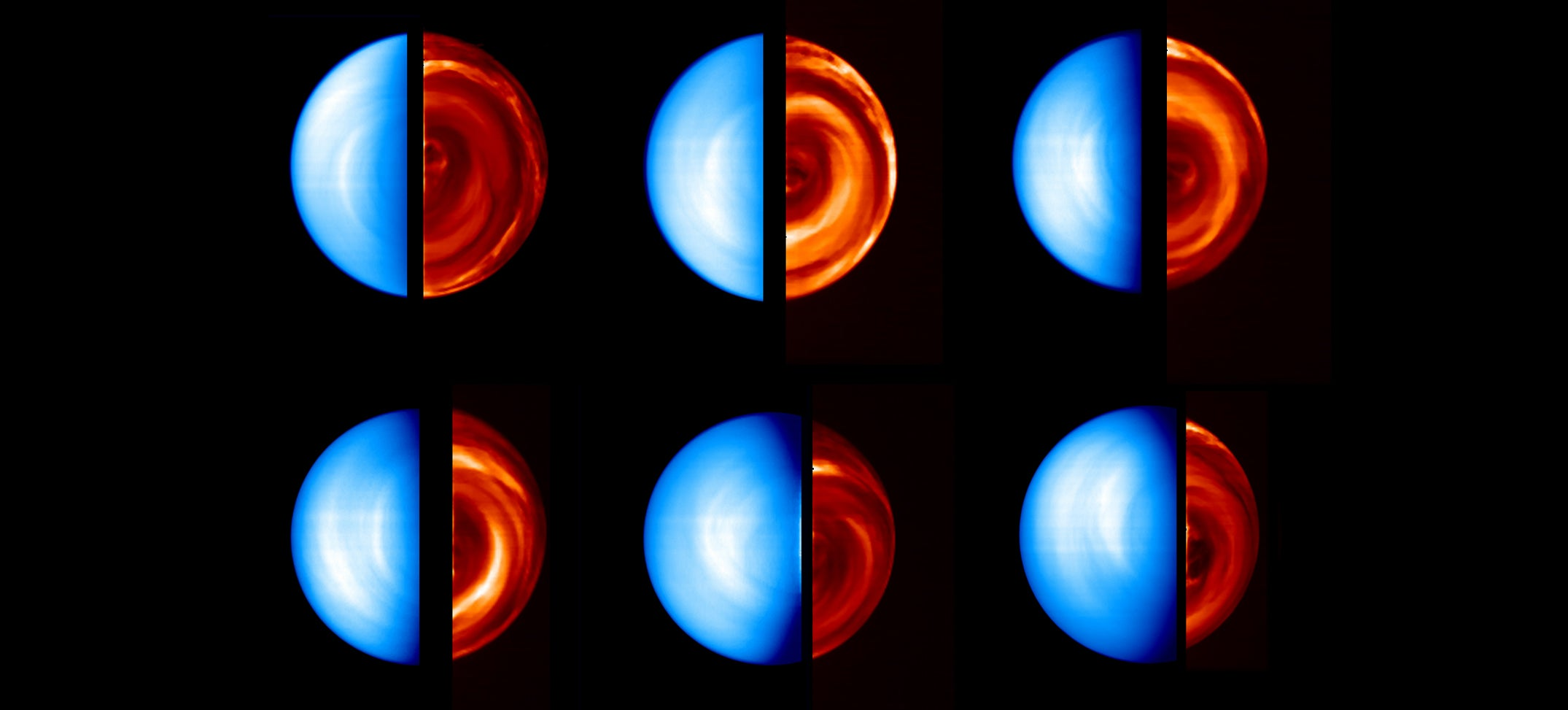 Venus By Day and Night in a Single Image