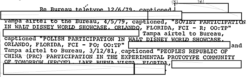 The FBI Worried About Communist Spies Invading EPCOT