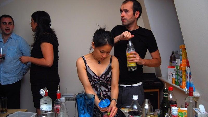 Avoid Bottle-Necking Your Party Guests by Spreading Food and Drink Around