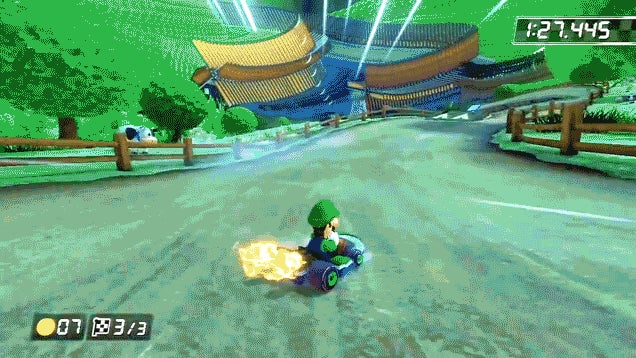 Remove The Sky, And Mario Kart 8 Gets Pretty Weird