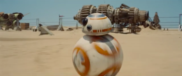 The cute rolling ball droid in the new Star Wars is a real robot not CGI