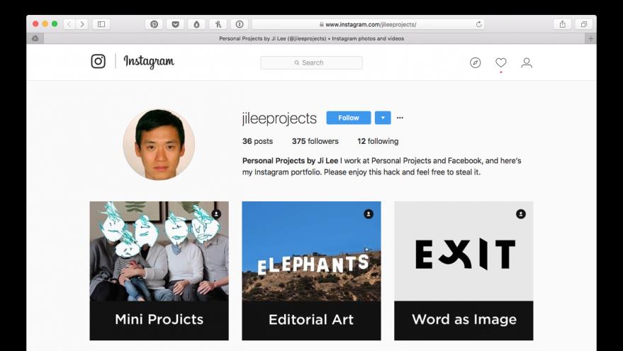 How To Create A Free Art Portfolio Using Instagram