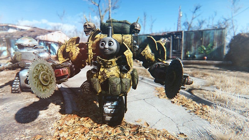 Fallout 4 Robots Are Way More Intimidating With a Thomas Head