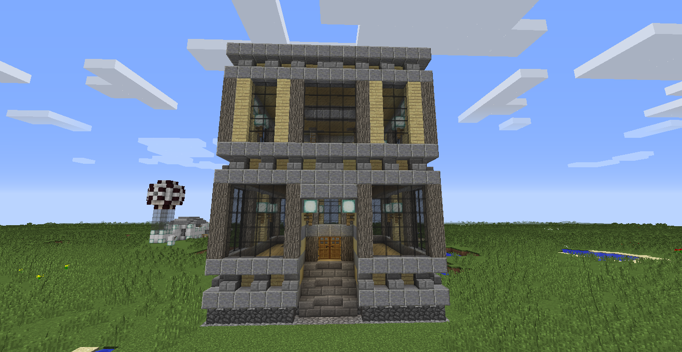 A fun new way to build in minecraft 39 chunk houses for Building on to my house