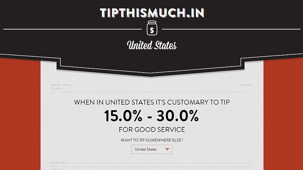 Tip This Much Shows Tips In Different Countries And ...