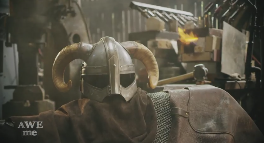 Blacksmiths Forge Skyrim Helmet, Shoot At It