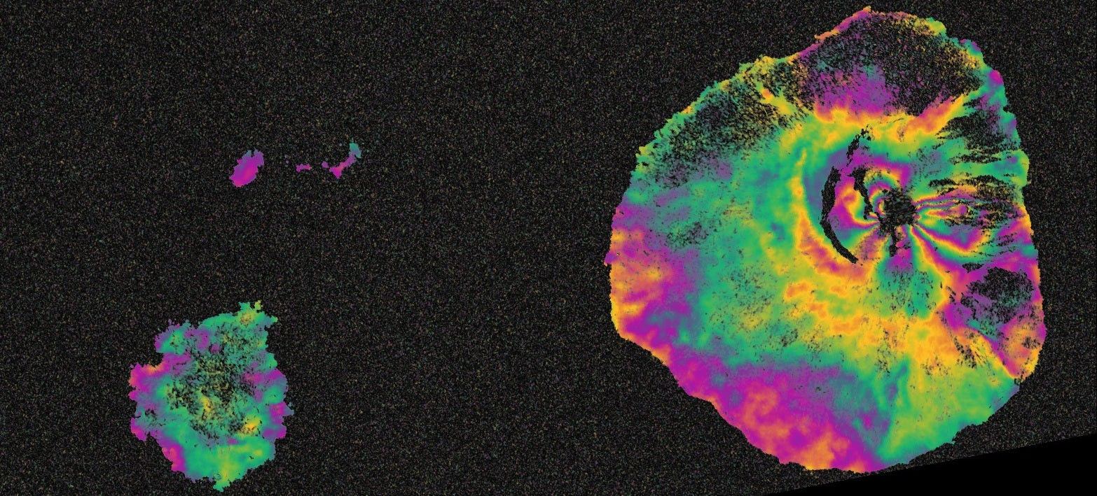 This Is What a Volcanic Eruption Looks Like in Satellite Radar