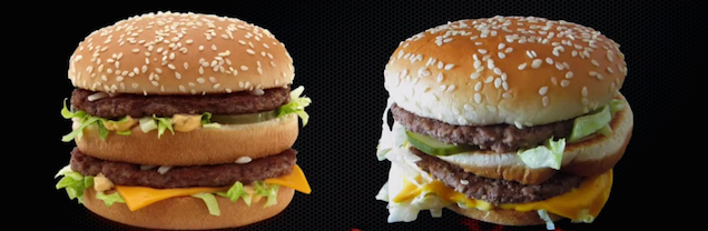Can fast food restaurants actually make burgers that look like the ads?