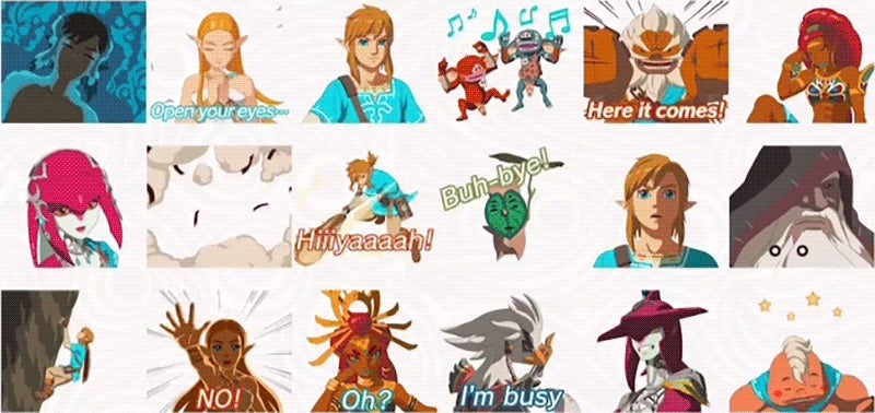 Breath Of The Wild iMessage Stickers Make Texting An Adventure
