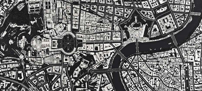 Damien Hirst's Latest Artworks Turn Scalpels Into City Maps