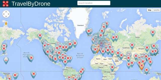 Fly Around The World With This Map of Drone-Recorded Videos