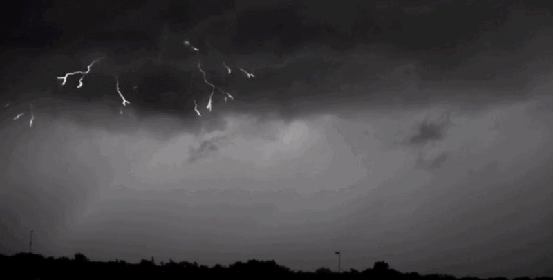 Watch Lightning Creep Towards Earth In Super Slow Motion