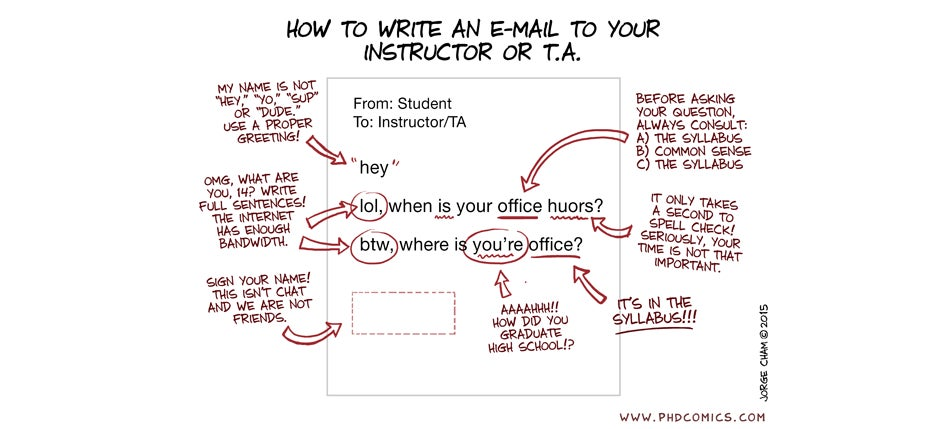 How Not to Write an Email to Your Tutor (or Boss, For That Matter)