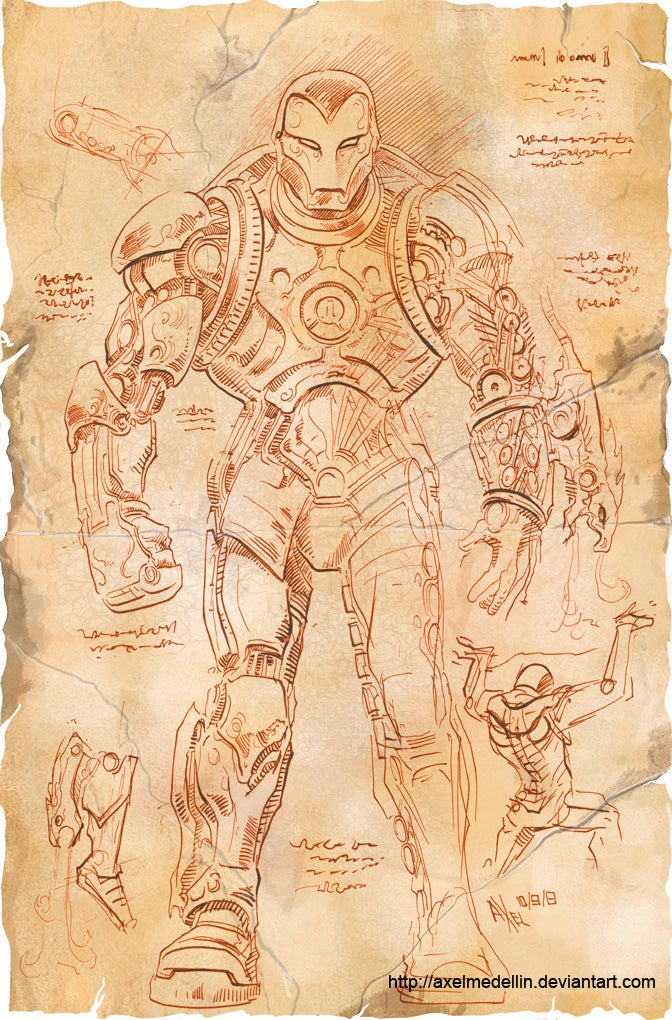 If Leonardo da Vinci Designed Iron Man's Suit